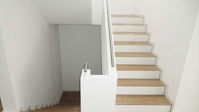 Innenputz im Treppenhaus